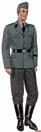 Field gray SS uniform for teams of the Gestapo.