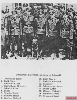 Gestapo members in Klatovy, German-occupied Czechoslovakia.