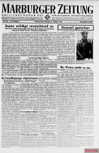 Report in the Marburger Zeitung of October 16, 1944 about Rommel's death.