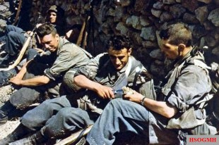 German Fallschirmjäger (paratroopers) rests after the Battle in Crete, 20 May 1941.