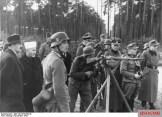 Propaganda photo of Grand Mufti of Jerusalem, Haj Amin al-Husseini inspecting Bosnian Waffen-SS recruits, November 1943.