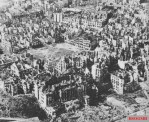 Ruins of Warsaw's old town market square. In total, eighty-five percent of the city was destroyed and nearly 200,000 civilians killed.