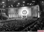 "Hitlerjugend demonstration under the banner of ""Die Ritterkreuzträger der Kriegsmarine Rede an die Hitlerjugend"" (The Knight's Cross Recipients of the German Navy Speech to the Hitler Youth) at the Berlin Sportpalast, 16 June 1943. General view of the venue."