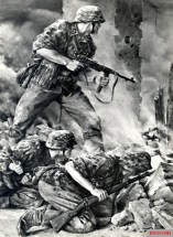 """""""Grenadiers of the Waffen-SS"""" by Will Tschech."""