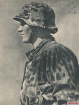 Waffen-SS soldier in peacock camo.
