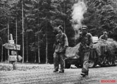 Kampfgruppe Knittel's troops on the road to Stavelot to support Peiper.