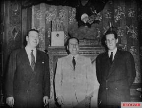 Otto Skorzeny (left) and Juan Perón (center).