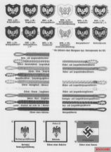 Symbols and rank insignia.