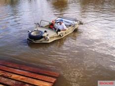 A Schwimmwagen, preserved in Brazil, being demonstrated, 2004.