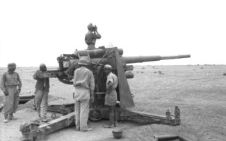 Flak 36 gun in position at Bir Hakeim, North Africa, June 1942.
