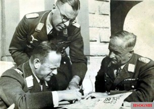 From left: Field Marshal Erhard Milch , Lieutenant General Hermann Plocher and Field Marshal Robert Ritter von Greim.
