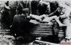 Rape and humiliation of a French Civilian who had a relationship with a German soldier by American G.I.s.