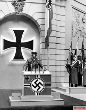 Hitler speaking on Memorial Day, 1943.