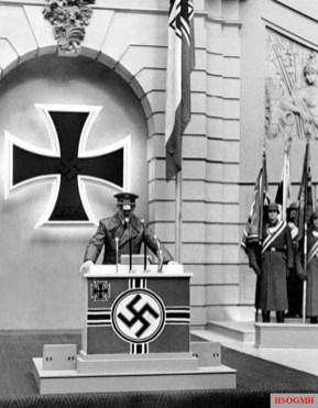 Hitler speaking on Memorial Day, 1943.