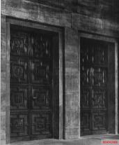 Bronze portal.