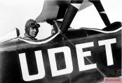 "Udet in a biplane U 12 ""Flamingo"", 1931."