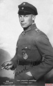 "Udet as a lieutenant in the First World War with the Order ""Pour le Mérite"", 1918."