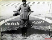 Ernst Udet in front of his Fokker D.VII.