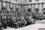 Heroes' Memorial Day on March 21, 1943, at the Berlin Armory: in the first row from left to right: Hanns Oberlindober, Fedor von Bock, Erhard Milch, Heinrich Himmler, Grand Admiral Karl Doenitz, Wilhelm Keitel, Hermann Goering, and Adolf Hitler.