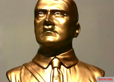 Golden Hitler Bust as a symbol of German Imperial Power.