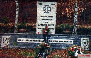 Monument to the 1st SS Panzer Corps in Marienfels.