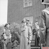 Jodl being arrested by British troops on May 23, 1945, near Flensburg.