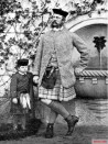 Wilhelm with his father, in Highland dress, in 1862.