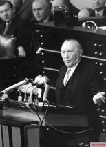 Konrad Adenauer in parliament, 1955.
