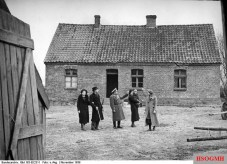 Baltic German settlers are shown around their new possession in occupied Poland in November 1939.
