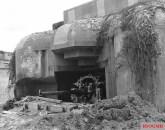 A German gun emplacement.