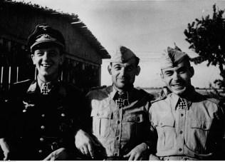 October 1942: Siegfried Freytag, Heinrich Bär and Gerhard Michalski.