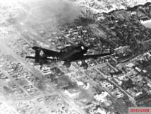 A Ju 87 Stuka dive bomber over Stalingrad.