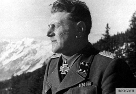 SS Sturmbannführer Otto Skorzeny as a guest at the Berghof.