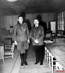 Otto Skorzeny and Hitler.