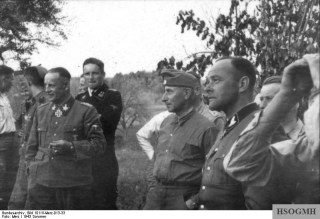 Krüger, Reitzenstein, Hausser and Ostendorff in the Soviet Union, 1943.
