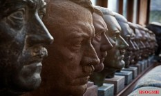 Kevin Wheatcroft's collection of Hitler heads. He has the largest collection in the world.