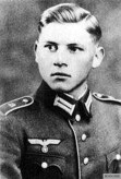 Wittmann as a young Wehrmacht soldier, 1935.