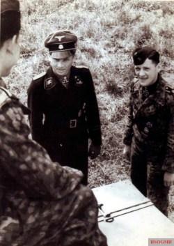 SS Obersturmführer Wittmann and SS Oberscharführer Balthasar Woll.