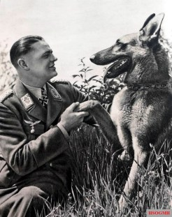 Otto Weiß with his dog.
