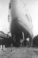 Two oars, three screws of the Bismarck.