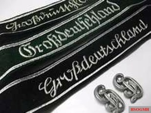Three types of the division's cuff title plus lettering for the shoulder boards.