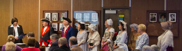 Mayor Nancy M. Malool Reading the proclamation making March Historical Society Month