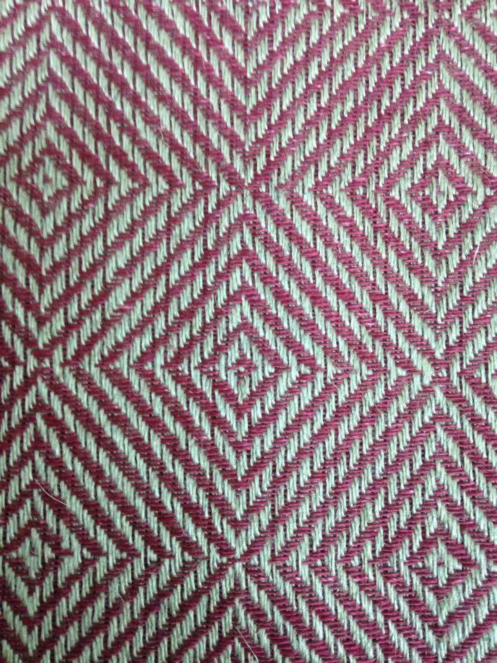 Goose eye- newly woven, this sample in linen