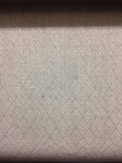 Twill variation in linen- newly woven