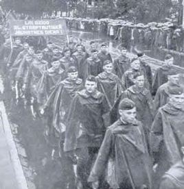 Latvian Soldiers march