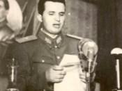 1950 - Devenit peste noapte general maior Nicolae Ceauşescu vorbeşte la Ateneu pe 9 mai 1950 Fototeca online a comunismului românesc cota 2-1950