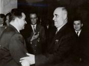 1961 - Nicolae Ceauşescu la ziua de naştere a lui Gheorghe Gheorghiu Dej Fototeca online a comunismului românesc