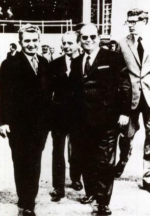 1972 - Nicolae Ceauşescu şi liderul iugoslav Iosip Broz Tito la hidrocentrala Porţile de Fier Fototeca online a comunismului românesc