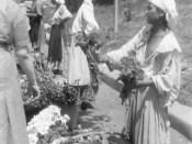 Bucuresti 1941, Tiganci florarese pe bulevardul Bratianu Staatsarchiv Freiburg W 134 Nr. 033226d