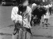 Bucuresti 1941, Tiganci florarese pe bulevardul Bratianu Staatsarchiv Freiburg W 134 Nr. 033226f